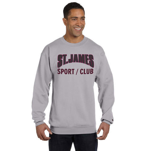 JCS Champion Adult Powerblend Eco Fleece Crew Sweater - Light Steel (JCS-016-LS)