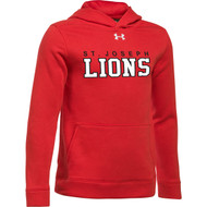 SJO Under Armour Youth Hustle Fleece Hoody - Red (SJO-303-RE)