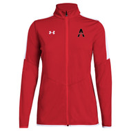 SAQ Under Armour Women's Rival Knit Jacket - Red (SAQ-232-RE)