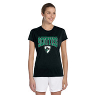 SCT Gildon Women's Performance T-Shirt with Design 2 - Black (STC-207-BK)