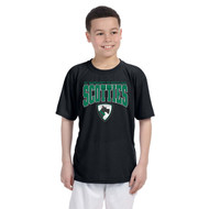 SCT Gildon Youth Performance T-Shirt with Design 2 - Black (STC-307-BK)