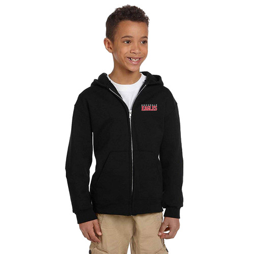 KPS Champion Youth Powerblend ECO Fleece Full Zip Hoody - Black (KPS-310-BK)
