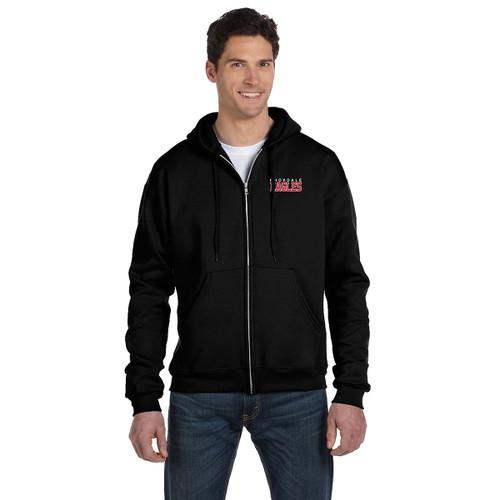 KPS Champion Adult Double Dry Eco Fleece Full Zip Hoody - Black (KPS-010-BK)