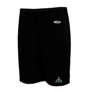 """RHS Athletic Knit Ladies Dryflex 5"""" Gym Short - Black"""
