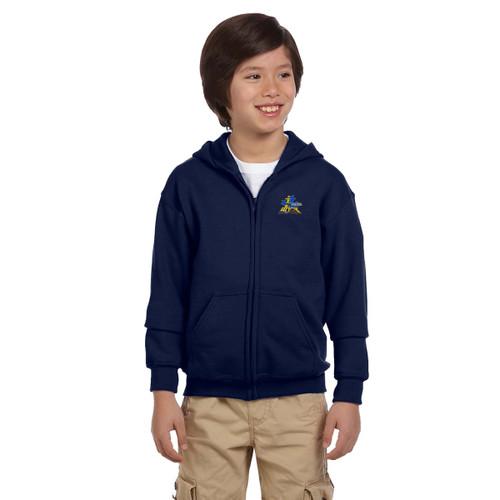 FPS Gildan Youth Full Zip Hoodie - Navy (FPS-303-NY)