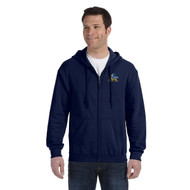 FPS Gildan Men's Full Zip Hoodie - Navy (FPS-103-NY)