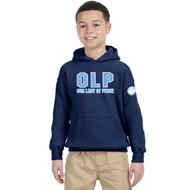 OLP Gildan Youth Heavy Blend Cotton Hoodie - Navy (OLP-304-NY)