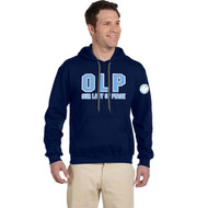 OLP Gildan Adult Premium Cotton Ringspun Fleece Hooded - Navy (OLP-005-NY)