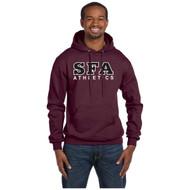 SFA Champion Adult Double Dry Eco Pullover Hood Design A - Maroon (SFA-011-MA)