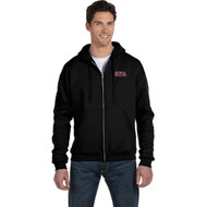 SFA Champion Adult Double Dry Eco Full-Zip Hood Design A - Black (SFA-013-BK)