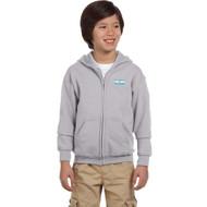 HFE Gildan Youth Heavy Blend Full-Zip Hoody - Sport Gray (HFE-303-SG)