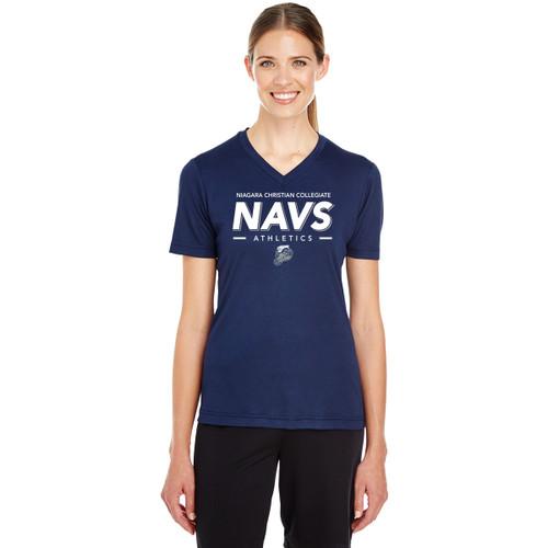 NCC Team 365 Women's Zone Performance T-Shirt (Staff) - Navy (NCC-207-NY)