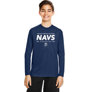 NCC Team 365 Youth Zone Performance Long-Sleeve T-Shirt - Sport Dark Navy (NCC-308-NY)