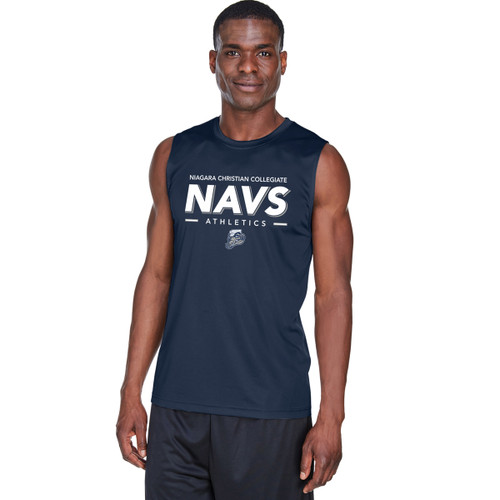 NCC Team 365 Men's Zone Performance Muscle T-Shirt - Sport Dark Navy (NCC-109-NY)