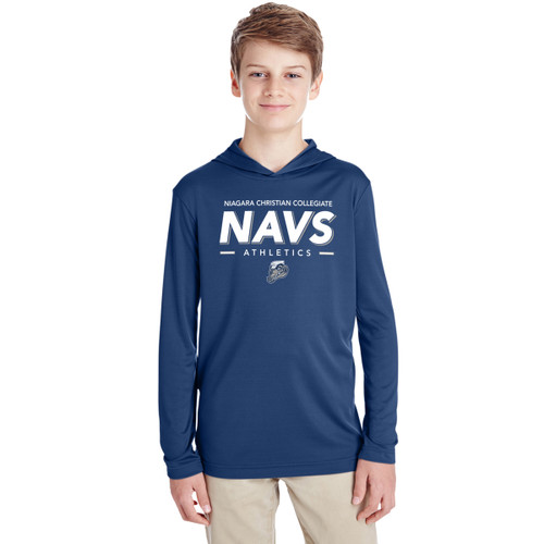 NCC Team 365 Youth Zone Performance Hoodie - Sport Dark Navy (NCC-310-NY)
