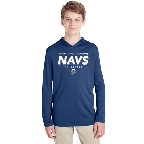 NCC Team 365 Youth Zone Performance Hoodie - Sport Dark Navy (NCC-310-NY)