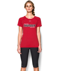 Feather Hill Under Armour Ladies Short Sleeve Locker Tee - Red