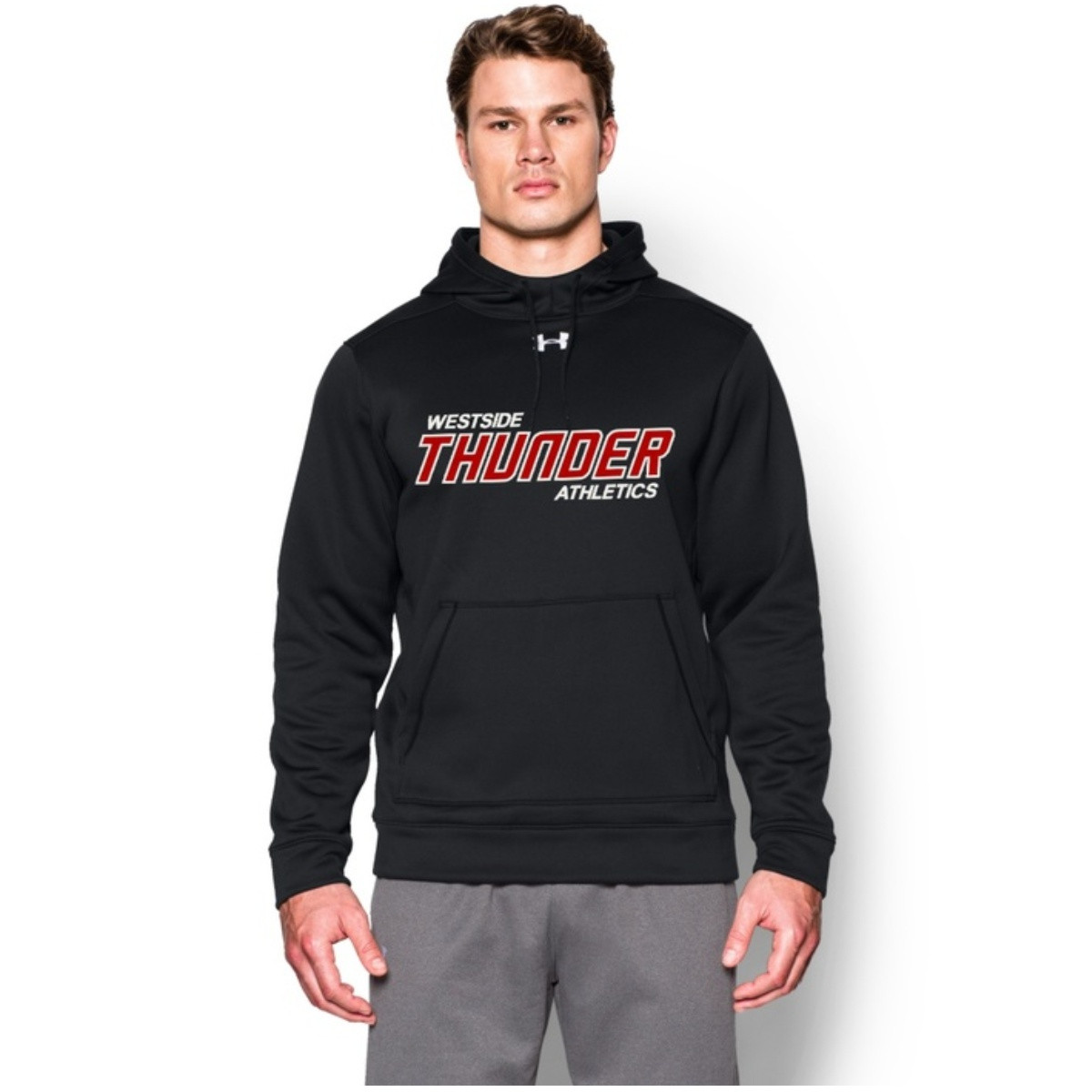 mens black under armour hoodie