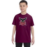 JRP Gildan Youth Heavy Cotton T-Shirt - Maroon (JRP-301-MA)