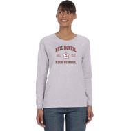 NMC Gildan Heavy Cotton Ladies Long Sleeve T-shirt (Staff) - Sport Grey (NMC-203-SG)