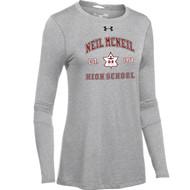 NMC Under Armour Ladies Locker 2.0 Long sleeve T-shirt (Staff) - True Grey (NMC-205-TG)