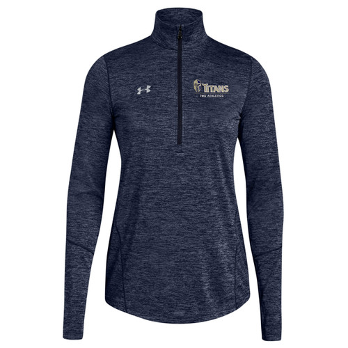 TMS Under Armour Women's Novelty ½ Zip Long Sleeve T-Shirt - Navy (TMS-217-NY)