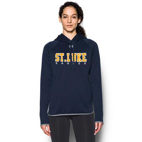 SLU Under Armour Women's Double Threat Fleece Hoodie - Navy (SLU-209-NY)