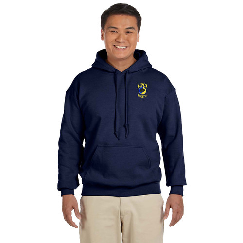 LPCI Gildan Adult Rugby 7s Embroidered Hoodie - Navy (LPC-030-NY)