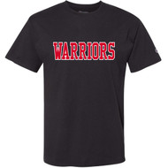 VHC Champion Adult Ringspun Cotton T-Shirt w/ Warriors Logo - Black (VHC-005-BK)