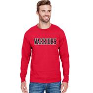 VHC Champion Adult Long-Sleeve Ringspun T-Shirt w/ Warriors Logo - Red (VHC-006-RE)