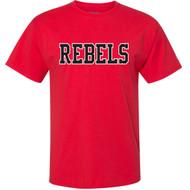 VHC Champion Adult Ringspun Cotton T-Shirt w/ Rebels Logo - Red (VHC-007-RE)