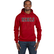 VHC Champion Adult Double Dry Eco Pullover Hoodie w/ Rebels Logo - Red (VHC-010-RE)