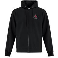 HCP ATC Everyday Men's Fleece Full Zip Hooded Sweatshirt (Staff) - Black (HCP-115-BK)