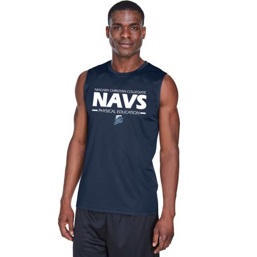NCC Team 365 Men's Zone Performance Muscle T-Shirt - Sport Dark Navy. (NCC-115-NY)