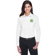 DCS Devon & Jones Women's Crown Woven Collection Solid Stretch Twill - White (DCS-201-WH)
