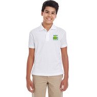 DCS Core 365 Youth Origin Performance Piqué Polo - White (DCS-301-WH)