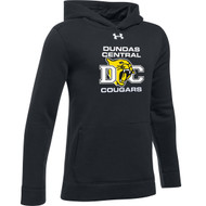 DCS Under Armour Youth Hustle Fleece Hoodie - Black (DCS-303-BK)