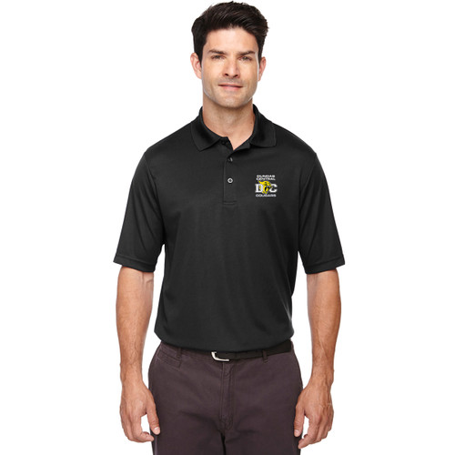 DCS Core 365 Men's Origin Performance Piqué Polo - Black (DCS-110-BK)