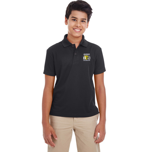 DCS Core 365 Youth Origin Performance Piqué Polo - Black (DCS-310-BK)