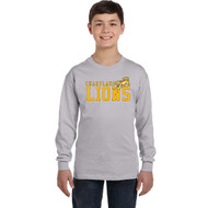 CJS Gildan Youth Heavy Cotton Long-Sleeve T-Shirt - Sport Grey (CJS-302-SG)
