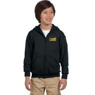 CJS Gildan Youth Heavy Blend Full-Zip Hoodie - Black (CJS-304-BK)