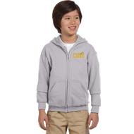 CJS Gildan Youth Heavy Blend Full-Zip Hoodie - Sport Grey (CJS-304-SG)