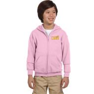 CJS Gildan Youth Heavy Blend Full-Zip Hoodie - Light Pink (CJS-304-LP)