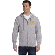 CJS Gildan Adult Heavy Blend Full-Zip Hoodie - Sport Grey (CJS-004-SG)