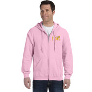 CJS Gildan Adult Heavy Blend Full-Zip Hoodie - Light Pink (CJS-004-LP)