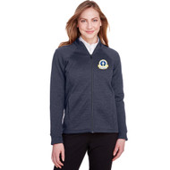 SPX North End Women's Flux 2.0 Full-Zip Jacket - Classic Navy Heather/Carbon (SPX-202-NY)