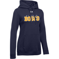 JBC Under Armour Women's Hustle Fleece Hoody - Navy (JBC-203-NY)
