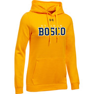 JBC Under Armour Women's Hustle Fleece Hoody - Steeltown Gold (JBC-203-GO)