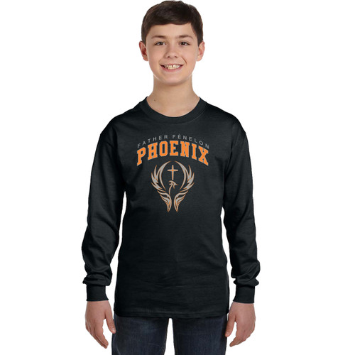 FFC Gildan Youth Heavy Cotton Long-Sleeve T-Shirt - Black (FFC-302-BK)