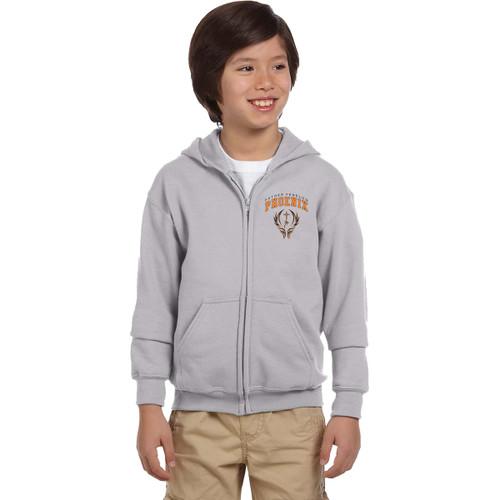 FFC Gildan Youth Full Zip Hooded Sweatshirt - Sport Grey (FFC-304-SG)